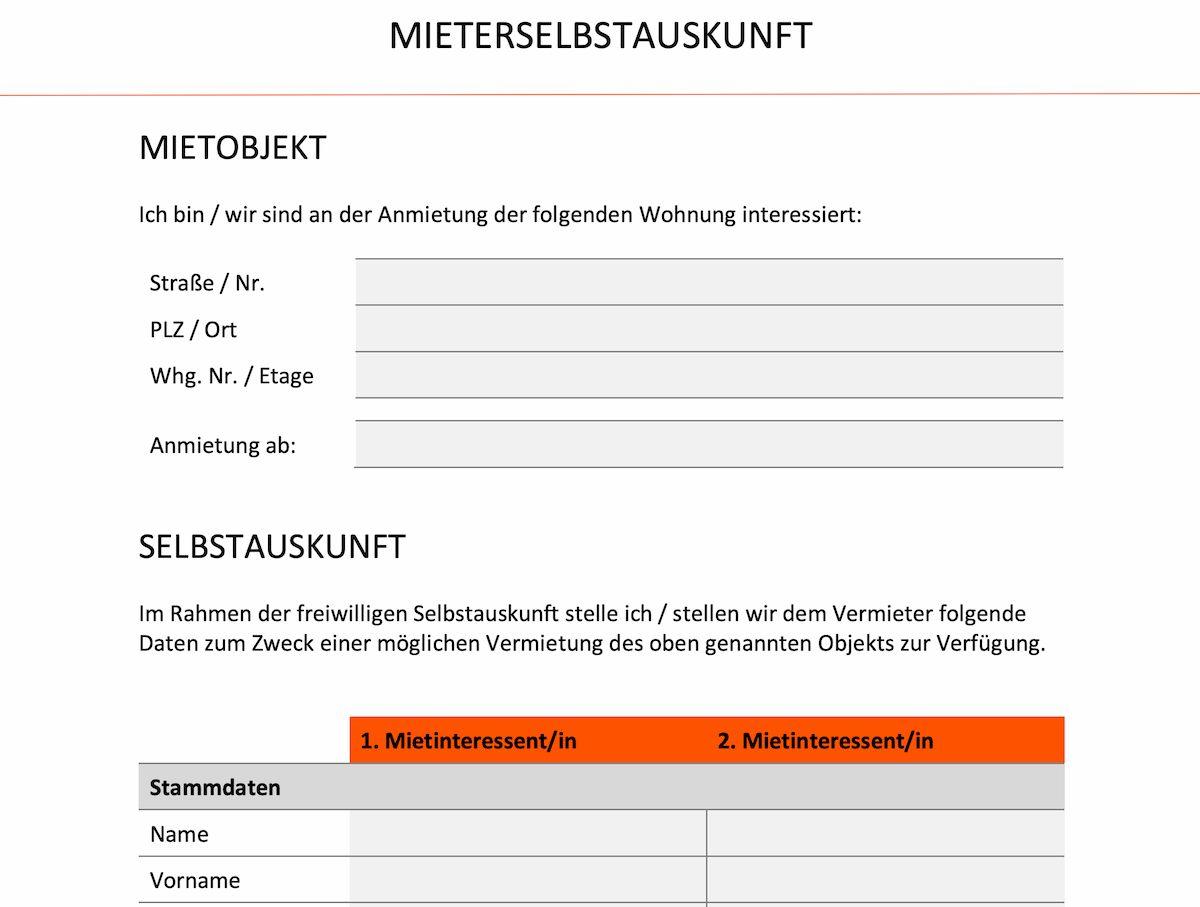 Mieterselbstauskunft: Definition & Formular zum Download