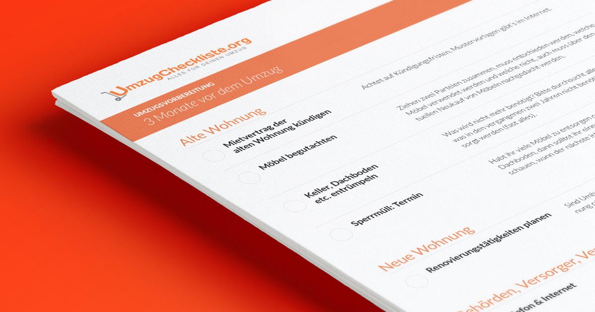 Umzugscheckliste als PDF zum Download
