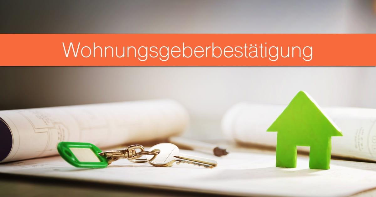 Wohnungsgeberbestätigung: Vorlage als PDF